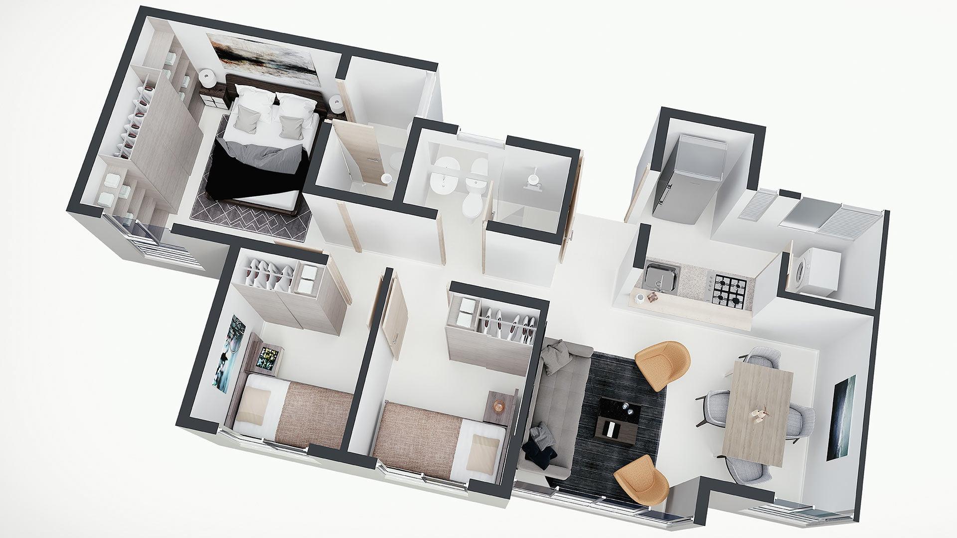 apartamentos en venta toledo plano isométrico